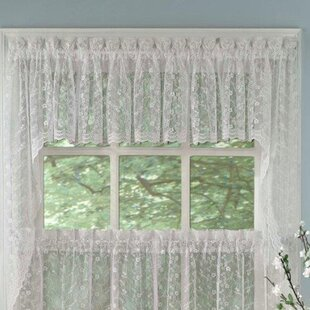 Priscilla Lace Swag Curtain Valance (Set of 2) by Sweet Home Collection