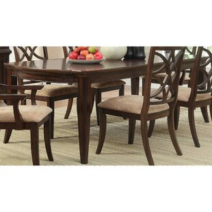 Clairsville Contemporary Style Wooden Dining Table Canora Grey