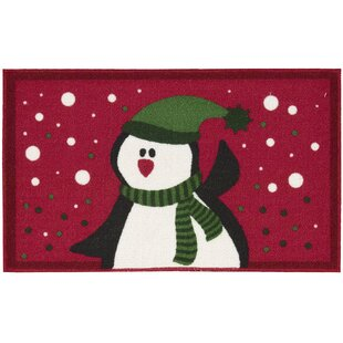 Penguin Red Area Rug