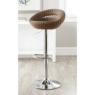 Fann Adjustable Height Swivel Bar Stool Highland Dunes