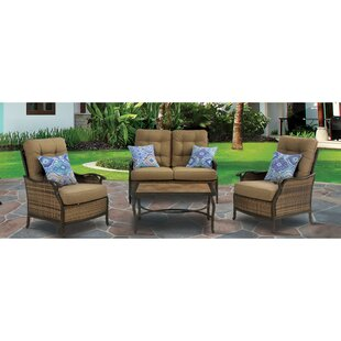 Dimaggio 4 Piece Sofa Seating Group with Cushions