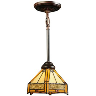 Meyda Tiffany Peaches 1-Light Dome Pendant