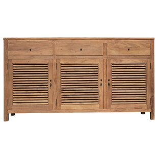 Flagler Recycled Teak 3 Door Accent Cabinet by Loon Peak