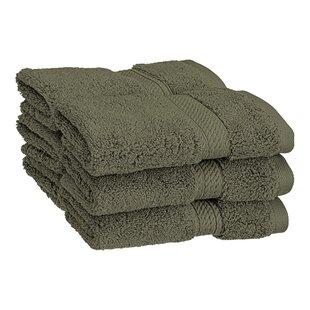 Beauregard 6 Piece Egyptian-Quality Cotton Washcloth Set