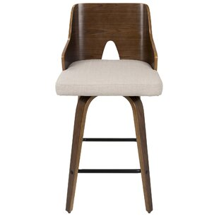 Moses Fixed Height Counter 66cm Swivel Bar Stool By Brick & Barrow