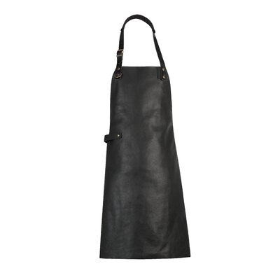 17 Stories Dutch Leather Apron  Color: Black