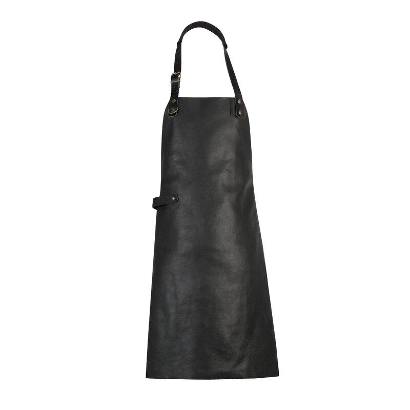 17 Stories Dutch Leather Apron  Color: Black