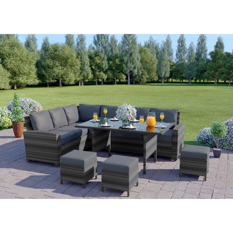 Hokku Designs 9 Seater Rattan Sofa Set Reviews Wayfair