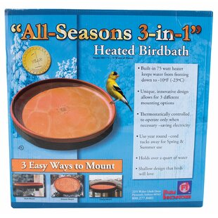 All Seasons Heated Birdbath By Farm Innovators