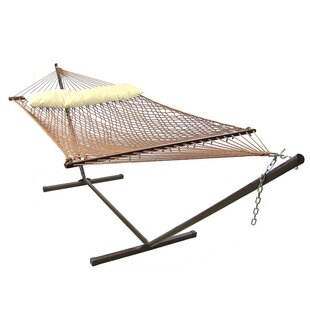 Dagmar Polyester Hammock with Stand by Highland Dunes