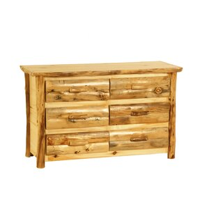 Rustic Arts™ 6 Drawer Double Dresser