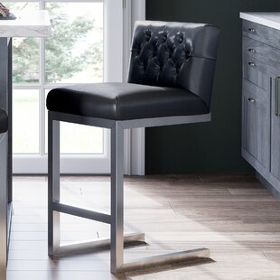 Guild Tobi Leather Counter Bar Stool Orren Ellis
