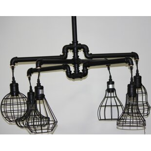 Williston Forge Brownfield Cage 6-Light Shaded Chandelier