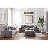 Acanva Classic Modern Corduroy 3 Piece Living Room Set by Orren Ellis
