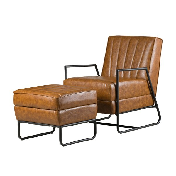 Marvelous Faux Leather Chair And Ottoman Wayfair Dailytribune Chair Design For Home Dailytribuneorg