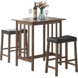 Hood Canal 3 Piece Dining Set by Red Barrel Studio®