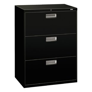 Brigade 600 Series 3-Drawer Vertical Filing Cabinet