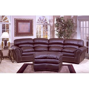 Williamsburg Leather Conversation Sofa by Omnia Leather