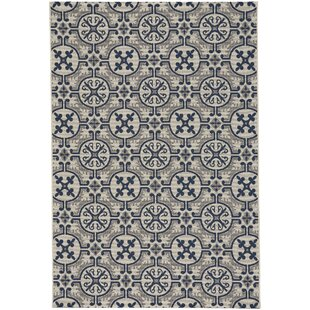 Bainsbury Tile Blue Indoor/Outdoor Area Rug by Three Posts Looking for