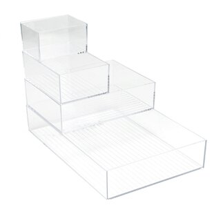 Mind Reader 4 Piece Acrylic Supplies Organizer Set