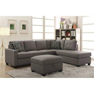 Koumarianos Reversible Sectional With Ottoman