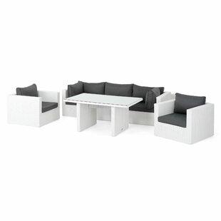 Hiren 5 Seater Rattan Effect Corner Sofa Set By Sol 72 Outdoor