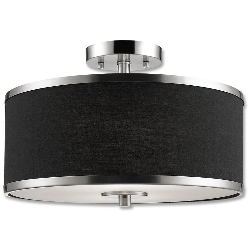 Ebern Designs  Manervia 2-Light Semi-Flush Mount