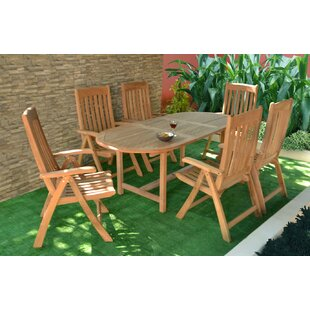 Rajimol 7 Piece Teak Dining Set