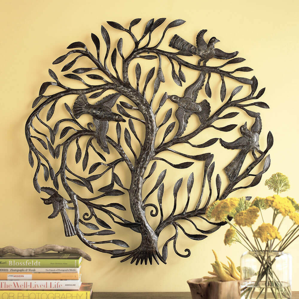 Modern Tree Of Life Wall Decor Illustration - Wall Art Collections ...