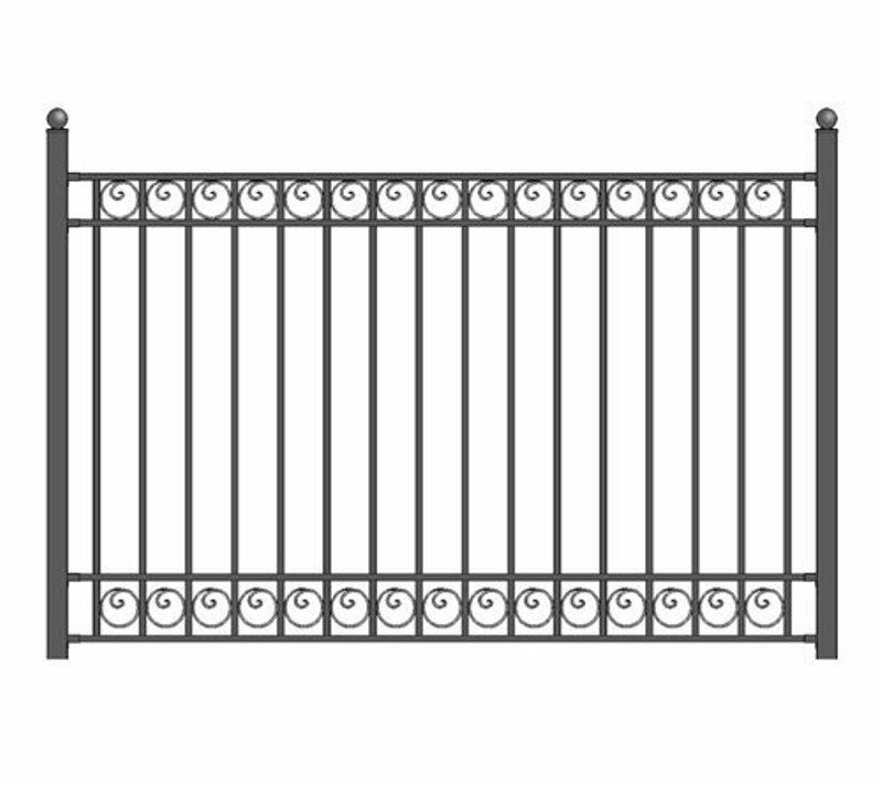 5 ft  H x 5 5 ft  W Dublin DIY Unassembled Fence Panel
