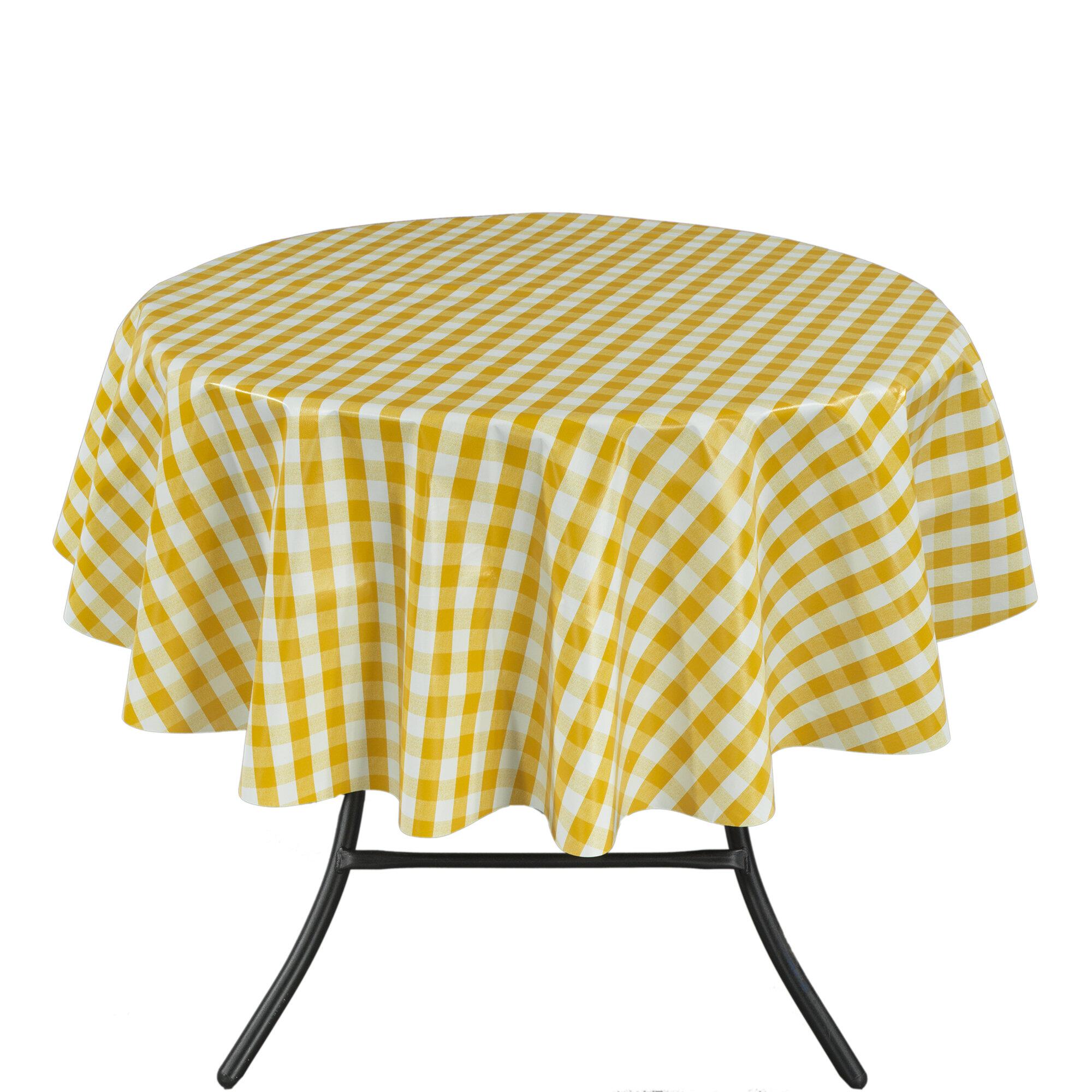 Winston Porter Floyd Vinyl Indoor/Outdoor Tablecloth & Reviews   Wayfair