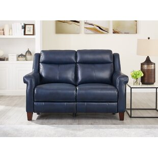 Arielle Leather Reclining Loveseat