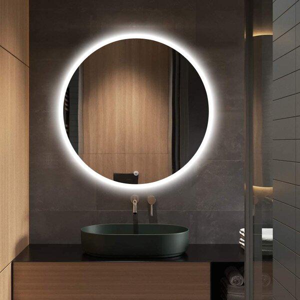 Ivy Bronx Epperly Frameless Lighted Bathroom Vanity Mirror Reviews Wayfair