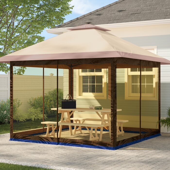 Fully Enclosed Canopy 12 Ft. W x 12 Ft. D Aluminum Pop-Up