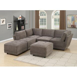 Mckenny Reversible Modular Sectional with Ottoman