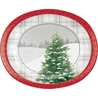 Creative Converting Winter Tree Heavy Weight Paper Disposable Dinner Plate Wayfair