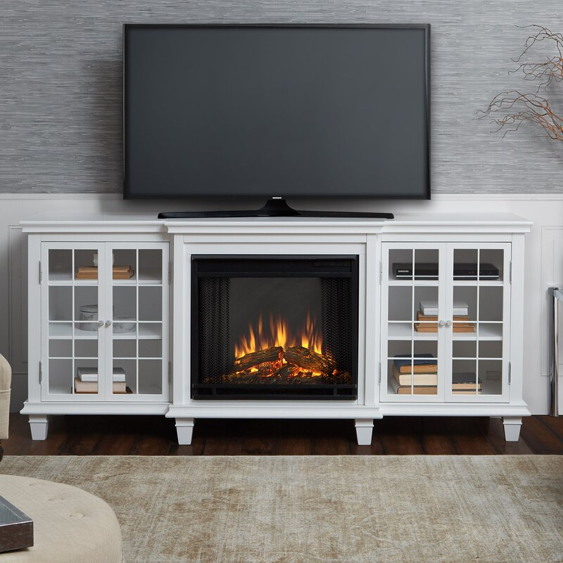 Real Flame Tv Stand For Tvs Up To 78 With Electric Fireplace