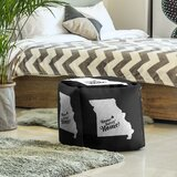 Home Sweet Jefferson City Cube Ottoman by East Urban Home