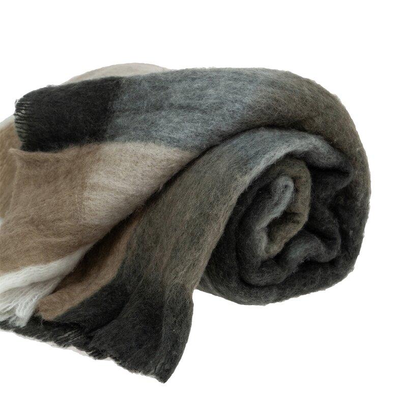 Winston Porter Mills Woven Handloom Wool Throw Wayfair Ca