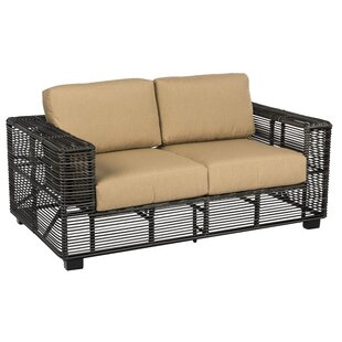 Monroe Loveseat with Cushions by Woodard