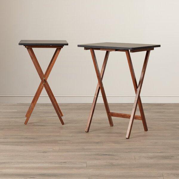 Andover Mills Ivana Folding TV Tray Table Set U0026 Reviews | Wayfair