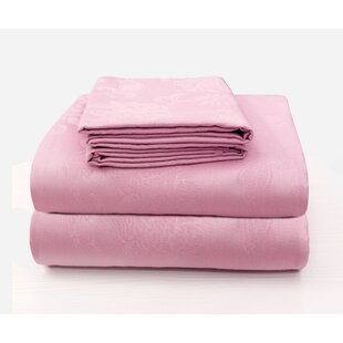 Rosdorf Park Carlene Super Soft Jacquard Designed Bed 100% Cotton Sheet Set