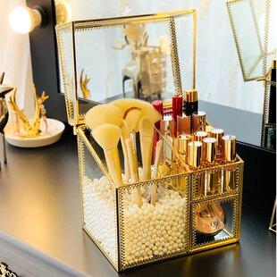 Stenya Glass Makeup Organizer