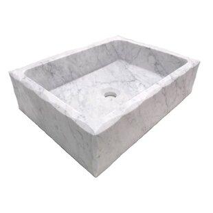 Reviews Honed Antique Carrara Marble Rectangular Vessel Bathroom Sink ByEden Bath
