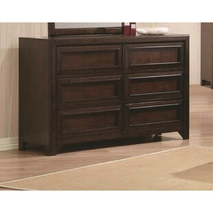 Whitmire 6 Drawer Double Dresser