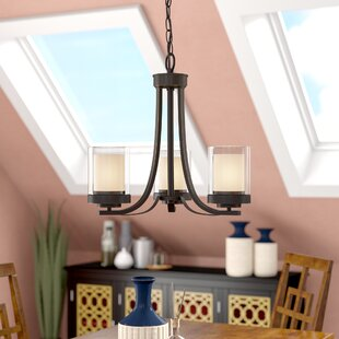 Cheyne 3-Light Shaded Chandelier by World Menagerie