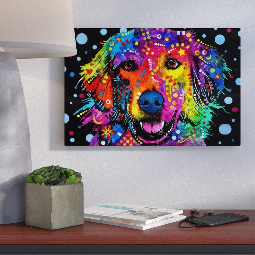 """Labrador Love A Dog Dean Russo Artwork 10/"""" x 5/"""" Wood Plaque Sign Home Decor"""