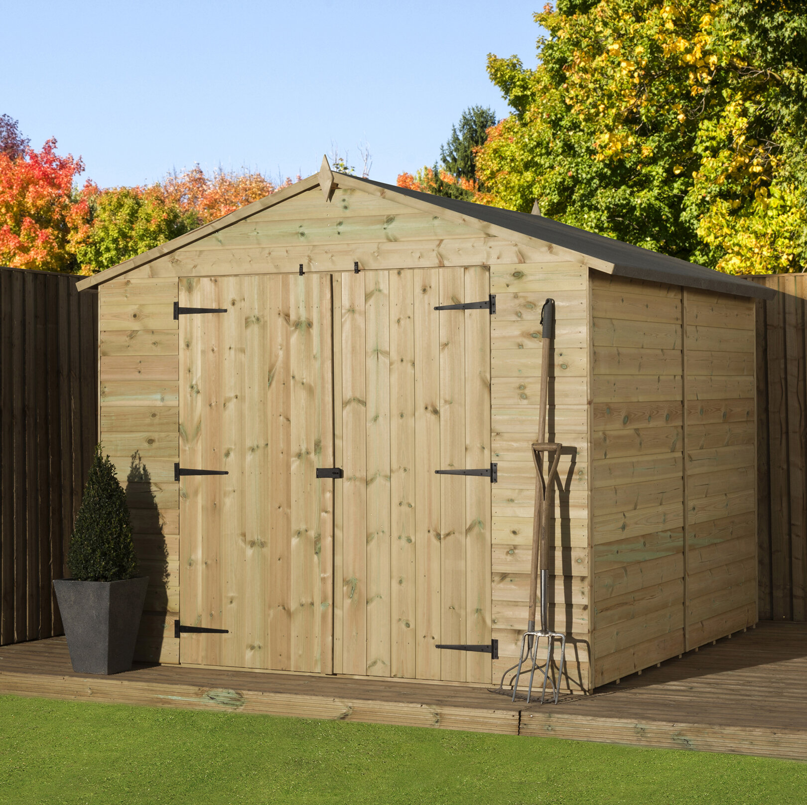 8 Ft W X 10 Ft D Shiplap Wooden Shed