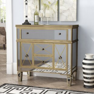 Lilah Mirrored 5 Drawer Accent Cabinet by Rosdorf Park