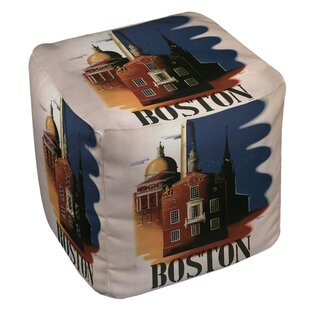 Boston Architecture Pouf by Manual Woodworkers & Weavers